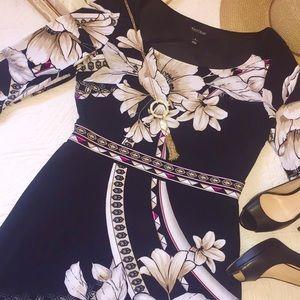 White House Black Market floral knit dress